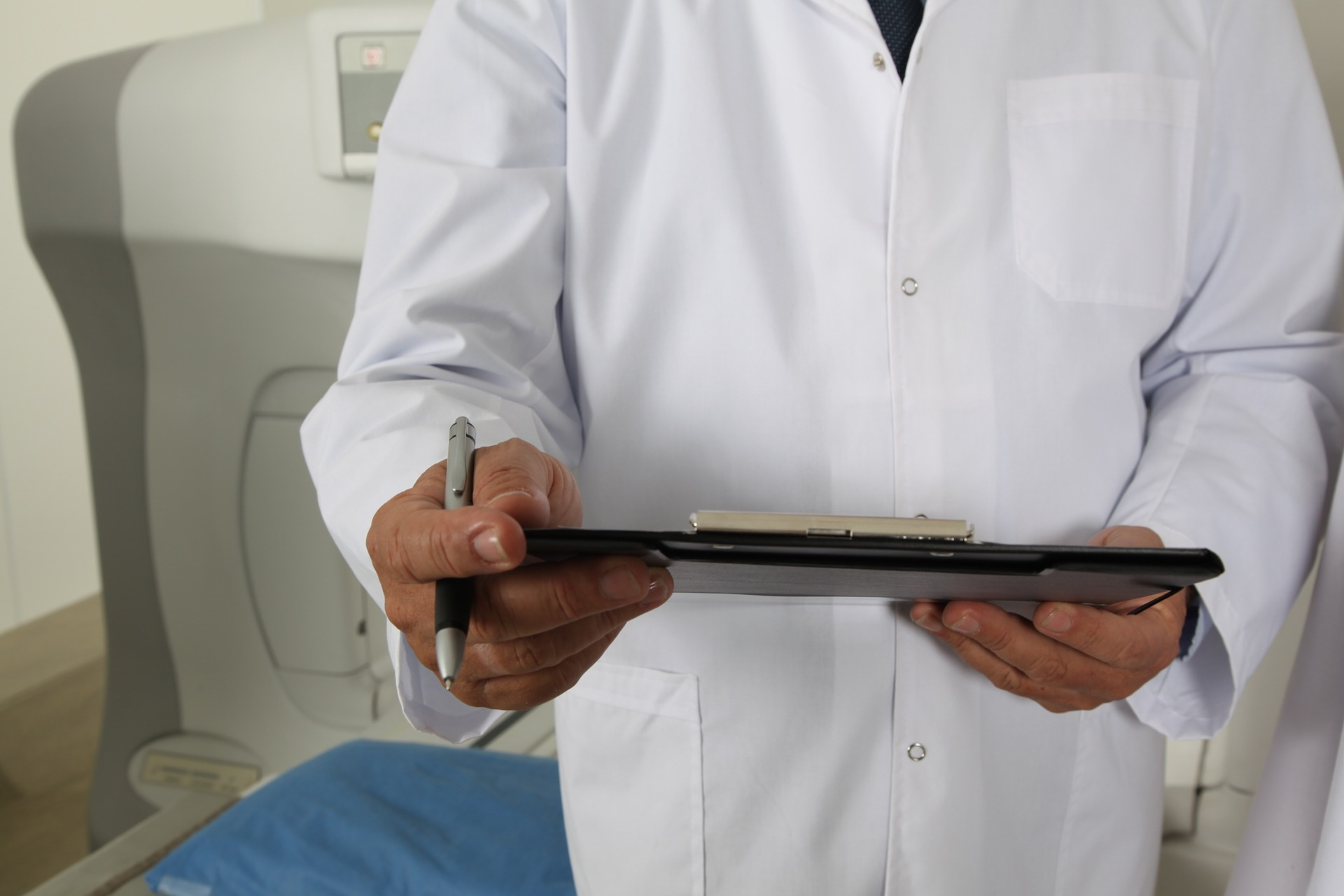 doctor holding a clipboard